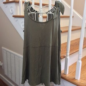 Anthropologie oversized knit shirt size small NWT